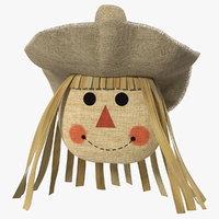 scarecrow head 3D model