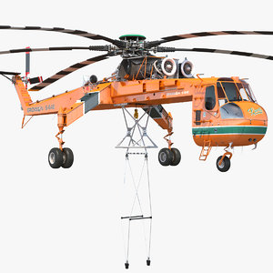 3D sikorsky s-64 skycrane heavy-lift