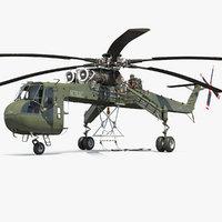 cargo helicopter sikorsky s-64 3D model