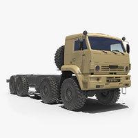 3D kamaz 6560 desert camo model