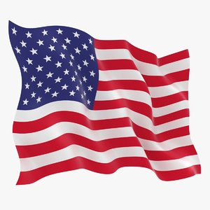3D usa flag animation