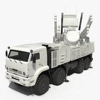 pantsir s1 sa-22 deployed 3D model