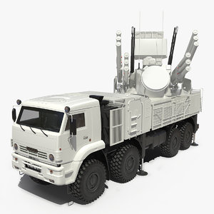 pantsir s1 sa-22 deployed 3D model