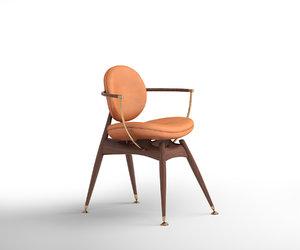 3D circle chair siglo moderno