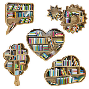 books shelf 3D model