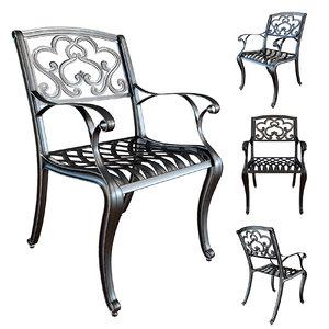 3D chair cast iron