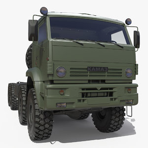 3D heavy offroad chassis kamaz model