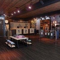 apparel clothing interior design 3D model