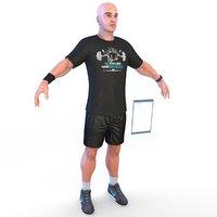 fitness coach 3D model