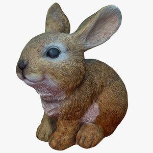 rabbit ornament 3D