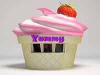 3D model shop ice cream