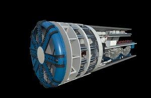 3D tunnel boring machine