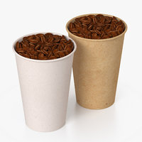 coffee cup paper 3D
