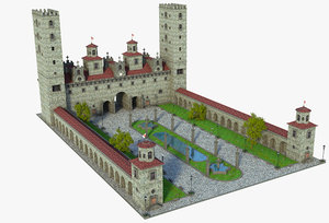 fantasy entrance 3D model