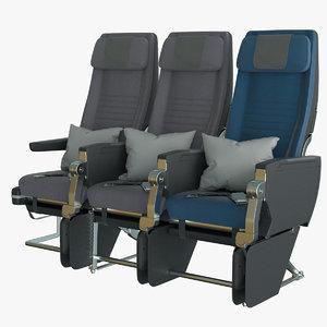 3D economy airplane seat singapore model