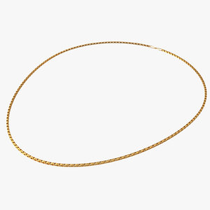 gold chain necklace 3D model