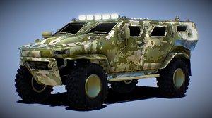 3D mrap military model