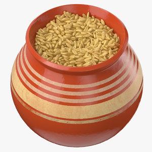 3D model ceramic pot oat