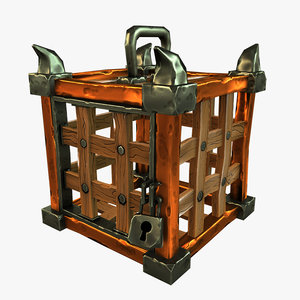 3D stylized cage model