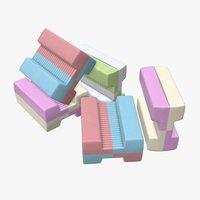 3D model gum bone chewing