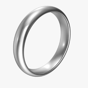 tungsten band ring 3D model