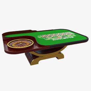 roulette table 3D