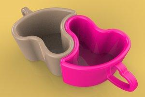 mug cup glass 3D