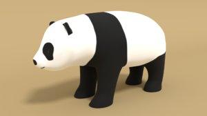 3D panda bear cartoon model