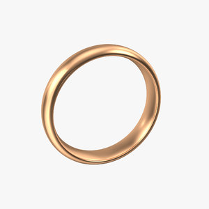 copper band ring 3D model