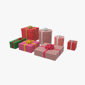 3D model gift giftbox