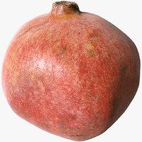 3D model scanned pomegranate