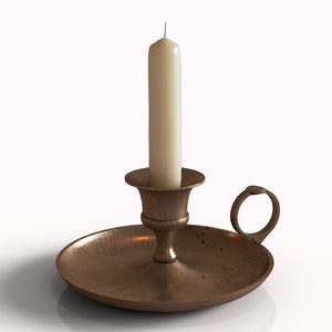 3D antique candle holder model