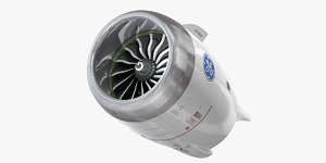 ge9x jet engine 3D model