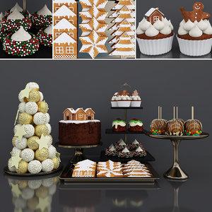 christmas dessert 3D