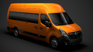 opel movano l4h3 minibus 3D model