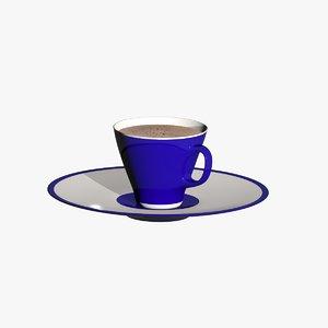 3d blue cup model