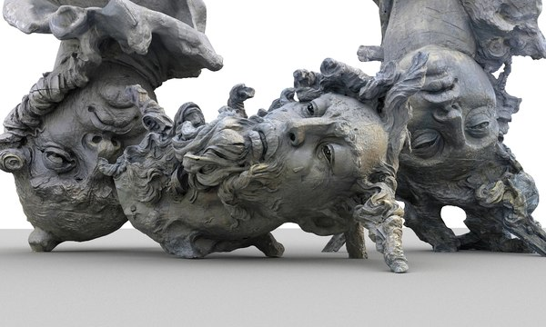 3D fallen angels monument hd model