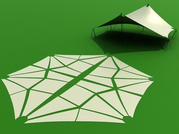 3D 6-angle shade sail tent