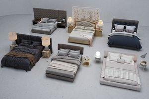 bed furniture cloth 3D model