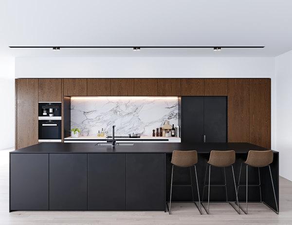 modern kitchen 2 miele 3D model