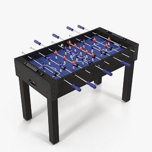 3D foosball table kids ball