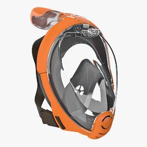 face snorkel mask generic 3D
