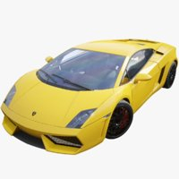 super lamborghini gallardo supercar 3D model