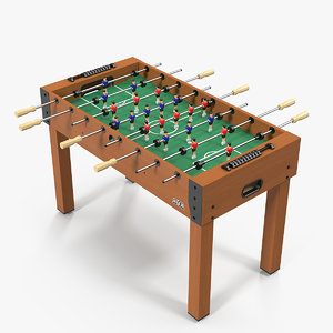 portable mini foosball table 3D model