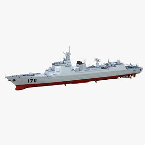 chinese type 052c destroyer 3D model
