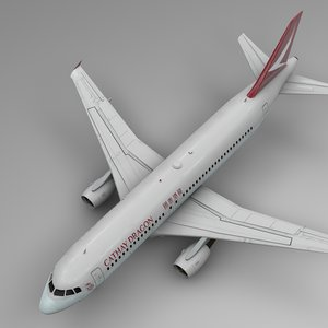cathay dragon airbus a320 3D