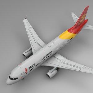 beijing capital airlines airbus 3D model