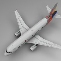 asiana airlines airbus a320 model