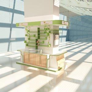 3D kiosks model