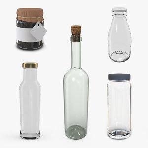 3D glass bottles 2 model